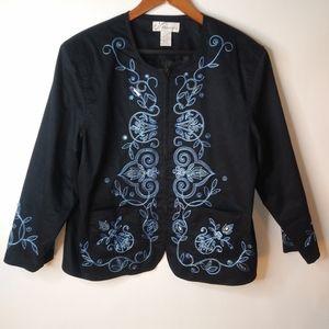 Dress Barn Navy Zip Up Jacket XL Plus